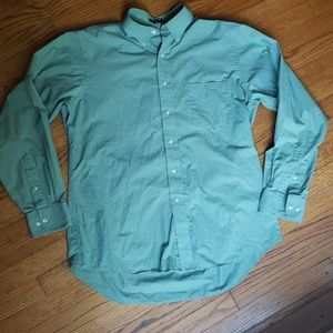 Chaps Classic Fit L (16.5 34/35) green button down